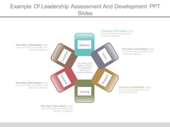 Example Of Leadership Assessment And Development Ppt Slides
