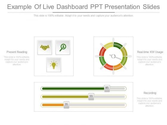 Example Of Live Dashboard Ppt Presentation Slides