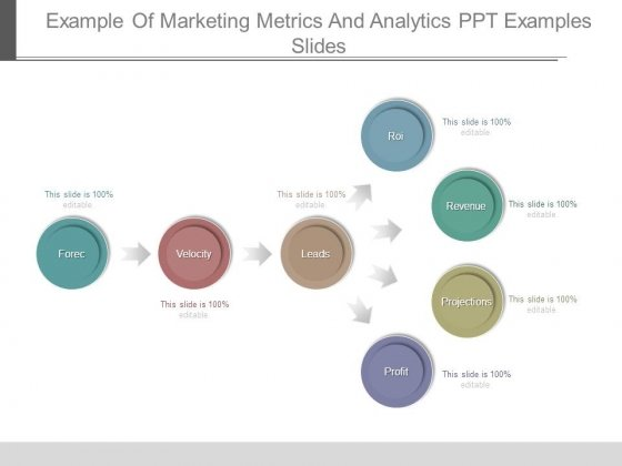 Example Of Marketing Metrics And Analytics Ppt Examples Slides