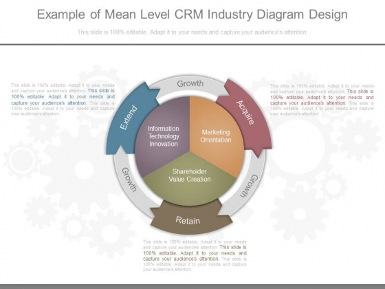 Example Of Mean Level Crm Industry Diagram Design