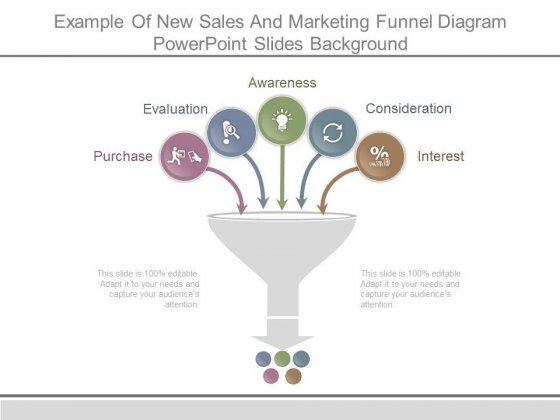 Example Of New Sales And Marketing Funnel Diagram Powerpoint Slides Background