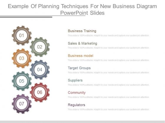 Example Of Planning Techniques For New Business Diagram Powerpoint Slides
