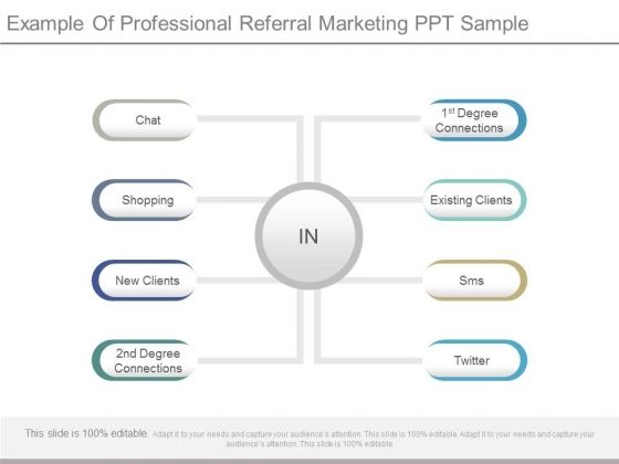 Example Of Professional Referral Marketing Ppt Sample