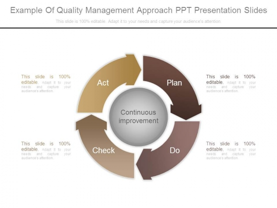 Example Of Quality Management Approach Ppt Presentation Slides