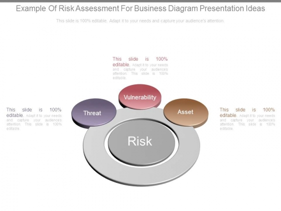 Example Of Risk Assessment For Business Diagram Presentation Ideas