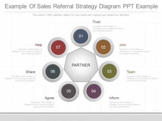Example Of Sales Referral Strategy Diagram Ppt Example