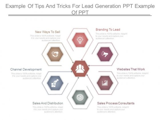 Example Of Tips And Tricks For Lead Generation Ppt Example