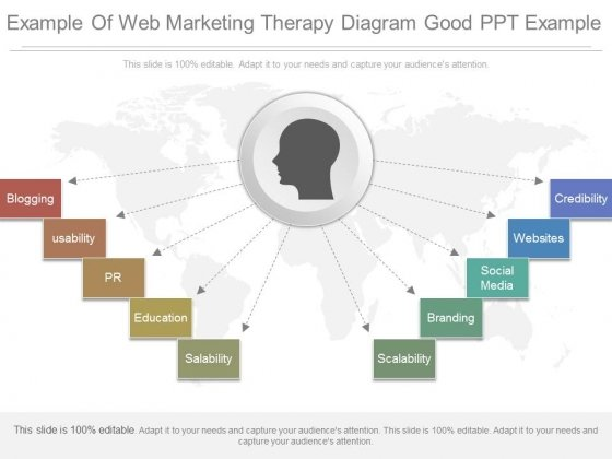 Example Of Web Marketing Therapy Diagram Good Ppt Example
