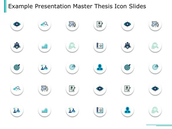 Example Presentation Master Thesis Icon Slides Ppt PowerPoint Presentation File Graphics Tutorials