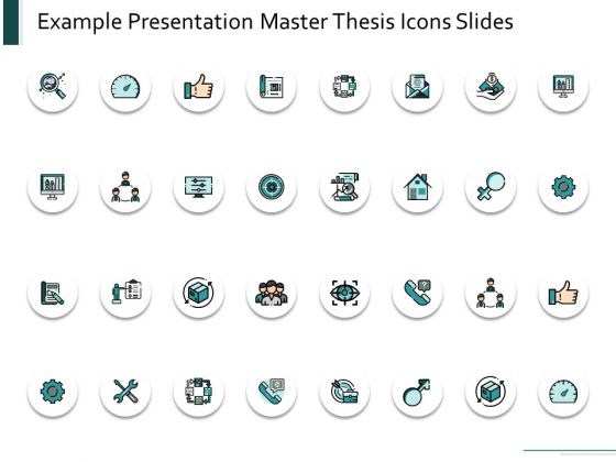 Example Presentation Master Thesis Icons Slides Marketing Ppt Powerpoint Presentation Ideas Guide