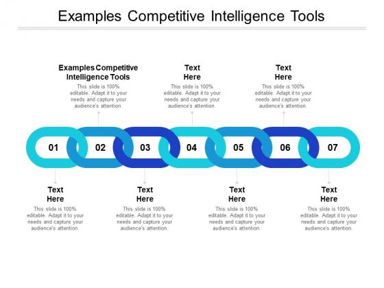Examples Competitive Intelligence Tools Ppt PowerPoint Presentation Slides Brochure Cpb