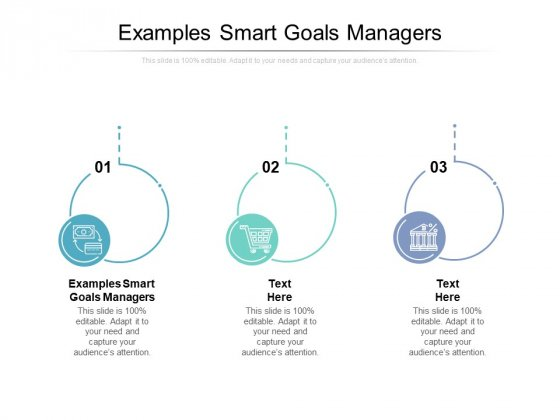 Examples Smart Goals Managers Ppt PowerPoint Presentation Slides Good Cpb