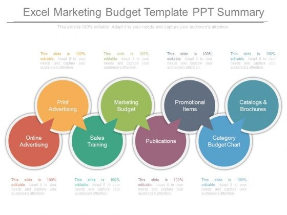 Budget Template Ppt Summary Excel Marketing 7 1