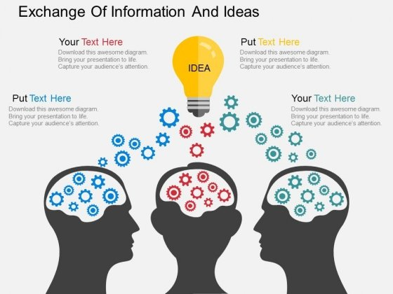 Exchange Of Information And Ideas Powerpoint Template