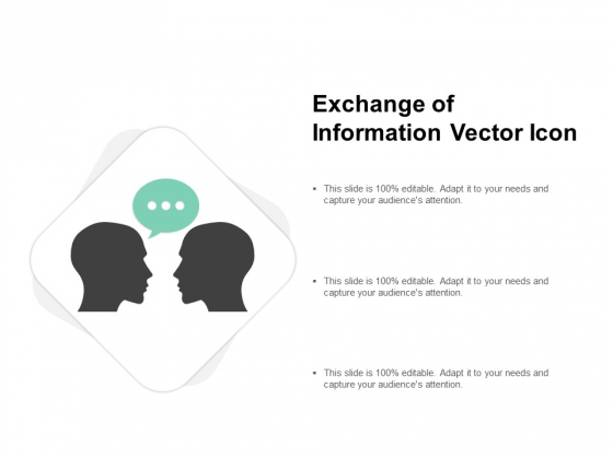 Exchange Of Information Vector Icon Ppt PowerPoint Presentation Infographics Background