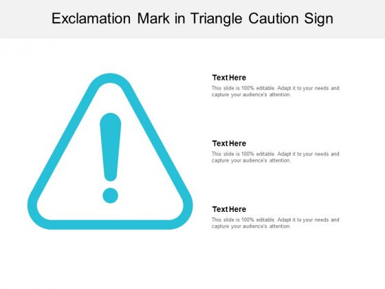 Exclamation Mark In Triangle Caution Sign Ppt PowerPoint Presentation Icon Portrait