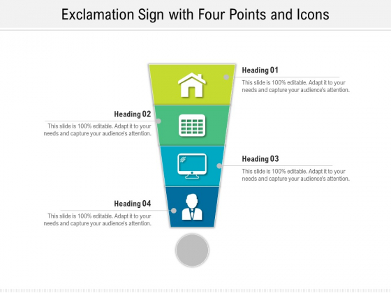 Exclamation_Sign_With_Four_Points_And_Icons_Ppt_PowerPoint_Presentation_Gallery_Background_Images_PDF_Slide_1