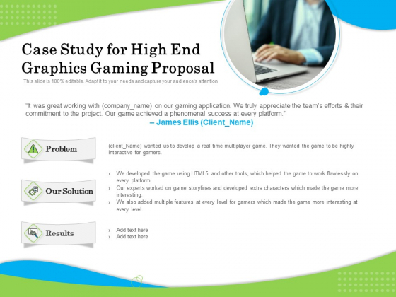 Exclusive Illustration Gaming Case Study For High End Graphics Gaming Proposal Portrait PDF