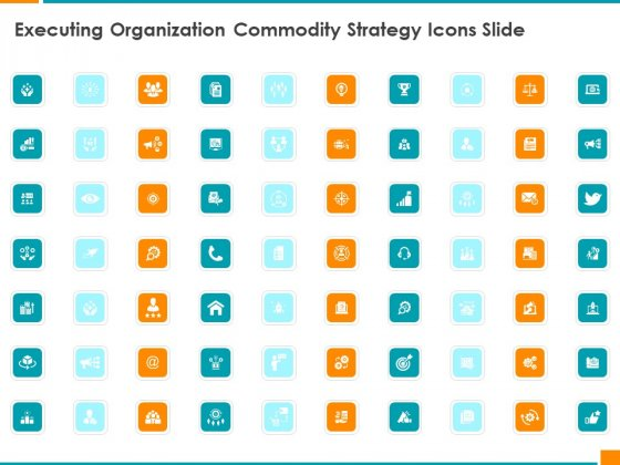 Executing Organization Commodity Strategy Icons Slide Demonstration PDF