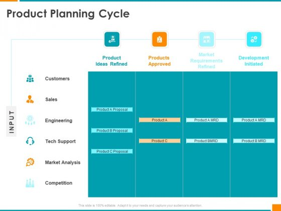 Executing Organization Commodity Strategy Product Planning Cycle Professional PDF