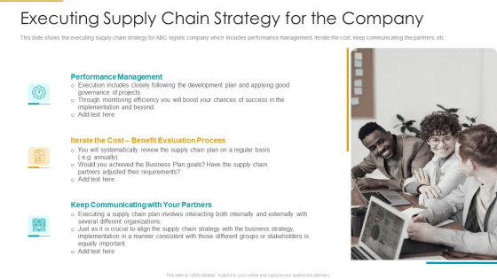Executing_Supply_Chain_Strategy_For_The_Company_Information_PDF_Slide_1
