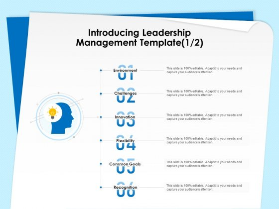 Executive Leadership Programs Introducing Leadership Management Template Innovation Ppt Ideas Visual Aids PDF