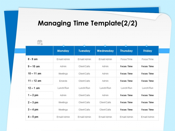 Executive Leadership Programs Managing Time Template Meetings Ppt PowerPoint Presentation Styles Show PDF