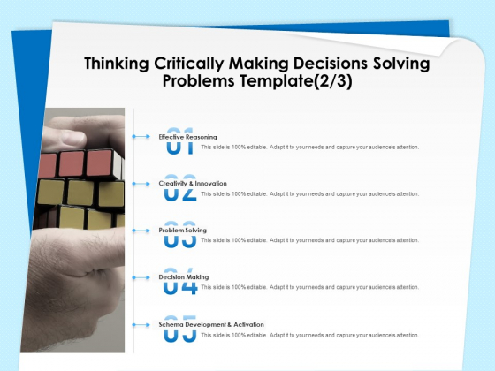 Executive Leadership Programs Thinking Critically Making Decisions Solving Problems Template Innovation Slides PDF