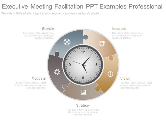 Executive Meeting Facilitation Ppt Examples Professional
