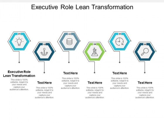 Executive Role Lean Transformation Ppt PowerPoint Presentation Infographics Background Image Cpb