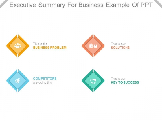 Executive Summary For Business Example Of Ppt