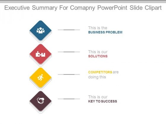 Executive Summary For Comapny Powerpoint Slide Clipart