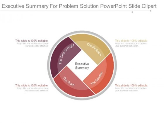 Executive Summary For Problem Solution Powerpoint Slide Clipart