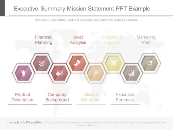 Executive Summary Mission Statement Ppt Example