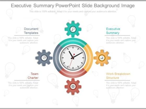 Executive Summary Powerpoint Slide Background Image