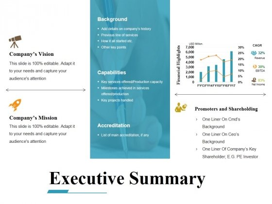 executive summary ppt powerpoint presentation ideas example file