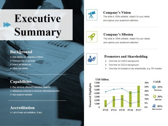 Executive Summary Ppt PowerPoint Presentation Ideas Master Slide