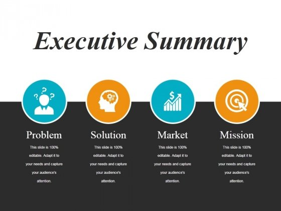 executive summary slide free