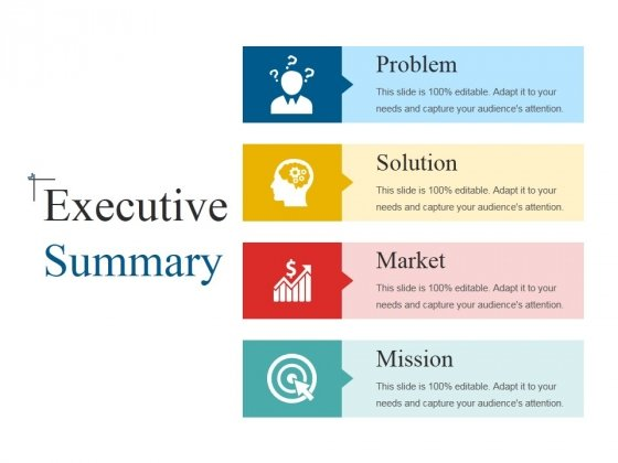 executive summary ppt powerpoint presentation model examples