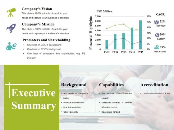 executive summary ppt powerpoint presentation portfolio example