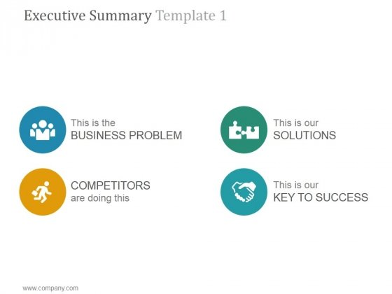 Executive Summary Template 1 Ppt PowerPoint Presentation Samples