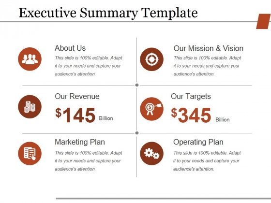 executive summary template ppt powerpoint presentation slides themes