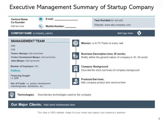 Executive_Synopsis_Milestones_Budget_Ppt_PowerPoint_Presentation_Complete_Deck_Slide_3