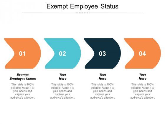 Exempt Employee Status Ppt PowerPoint Presentation Slides Icons Cpb