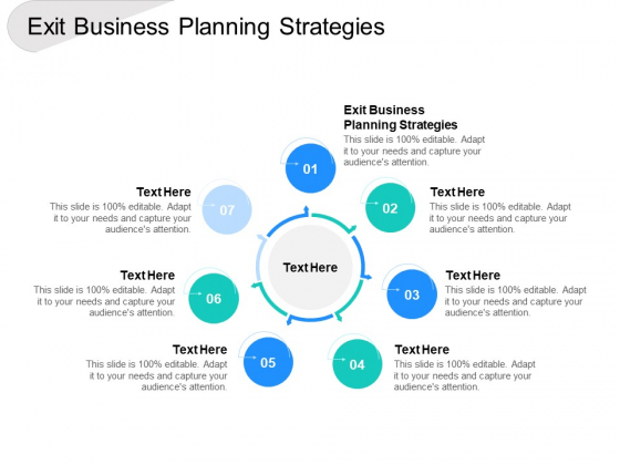 Exit Business Planning Strategies Ppt PowerPoint Presentation Icon Maker Cpb