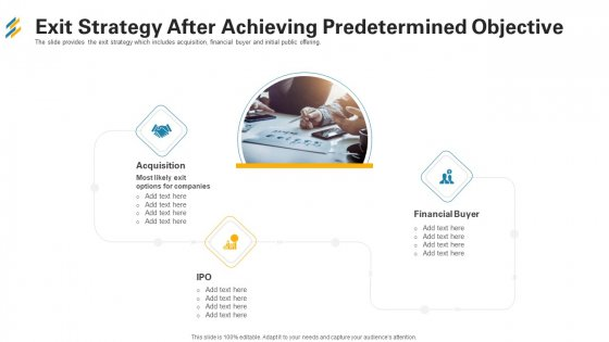 Exit Strategy After Achieving Predetermined Objective Ppt Show Sample PDF