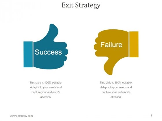 Exit Strategy Ppt PowerPoint Presentation Background Images