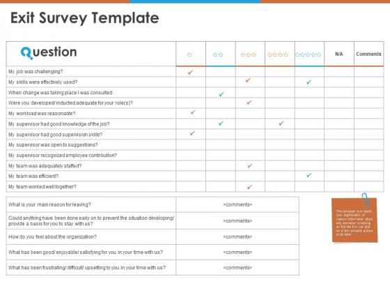 Exit Survey Template Ppt PowerPoint Presentation Slides Information PDF