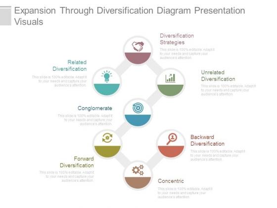 Expansion Through Diversification Diagram Presentation Visuals