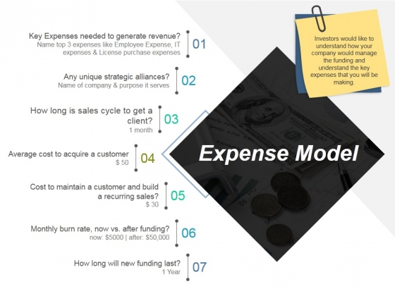 Expense Model Template 1 Ppt PowerPoint Presentation Icon Topics